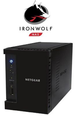 Netgear ReadyNAS RN212 2-Bay 2TB (2x1TB Seagate IronWolf) Media NAS Hub for Your Home
