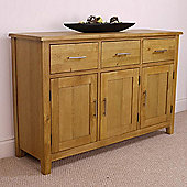 Nebraska Modern Oak Sideboard / Large 3 Door 3 Drawer Dresser