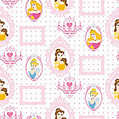 Disney Princess Royal Frames Pink Wallpaper