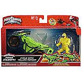Power Rangers Ninja Steel Mega Morph Cycle With Yellow Ranger