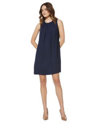 F&F Tie-Back Shift Summer Dress Navy Blue 12