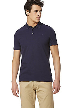 F&F Pique Short Sleeve Polo Shirt with As New Technology - Navy