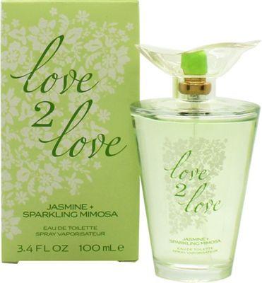 Love2Love Jasmine + Sparkling Mimosa Eau de Toilette (EDT) 100ml Spray For Women