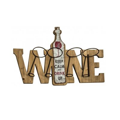 Keep Calm Wine Rack