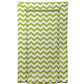 East Coast Chevron Changing Mat (Lime)