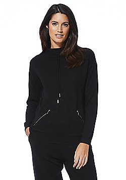 F&F Cashmere Funnel Neck Jumper - Black
