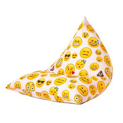 Emoji Girl Large Childrens Pyramid Shape Bean Bag Chair Kids Beanbag Boy