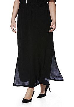 Junarose Plus Size Maxi Skirt - Black