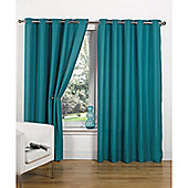 Hamilton McBride Canvas Unlined Ring Top Curtains - Teal