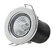 1 x Starmo Chrome GU10 Mains Recessed Ceiling Light Spotlight Downlight