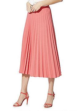 F&F Pleated Midi Skirt - Coral