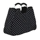 Coolmovers Reusable Black Polka Dot Shopping Bag, 17 Litre