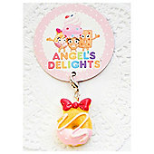Children's Pink Iced Doughnut with Bow Charm