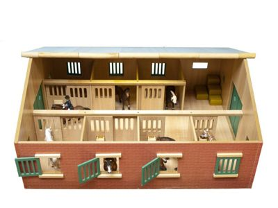 Large Horse Stable - 1:24 Scale - 61.0595 - Kids Globe
