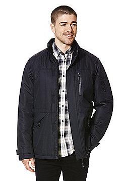 F&F Padded Shower Resistant Ripstop Jacket - Black