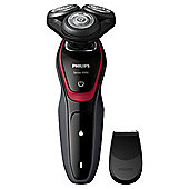 Philips S5130/06 Mens Electric Rotary Shaver with Precision Trimmer - Black / Red