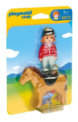 Playmobil 1.2.3 Equestrian with Horse 6973