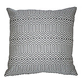 McAlister Smooth Touch Cushion Cover Grey Geometric Design