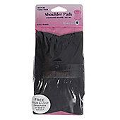 Hemline Shoulder Pads (Black/Covered/Medium/Set In-Standard Shape)