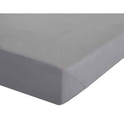 Catherine Lansfield Non Iron Percale Grey Fitted Sheet - Single