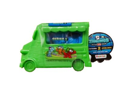 Zomlings Series 5 Blind Bags With Big Zom-Mobile 1 x Supplied #Green