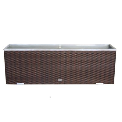 BrackenStyle Large Polyrattan Planter - Brown Weave
