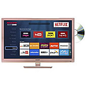Sharp LC-24DHG6001KR 24 Inch HD Ready 720p Rose Gold LED Smart TV/DVD Combi with Freeview HD