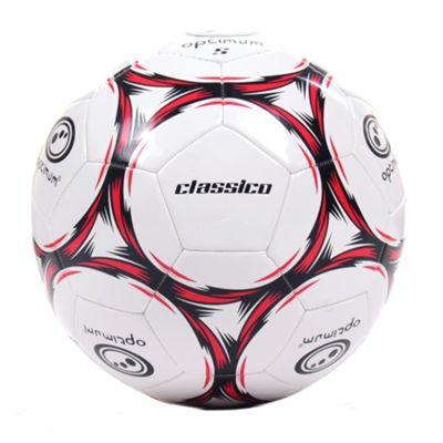 Optimum Classico Football Soccer Ball White/ Red - 4