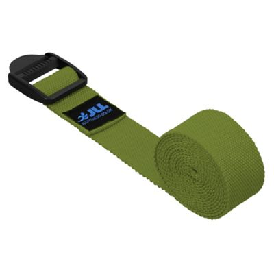JLL Cotton Yoga Belt WIth Plastic Cinch - Green