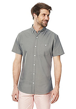 F&F Short Sleeve Oxford Shirt - Khaki