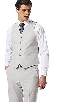 F&F Regular Fit Waistcoat - Light Grey