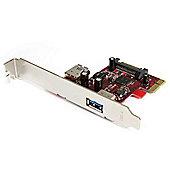 StarTech 2-port PCI Express SuperSpeed USB 3.0 Card - 1 Internal 1 External
