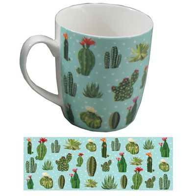 Puckator Lauren Billingham Bone China Cactus Mug