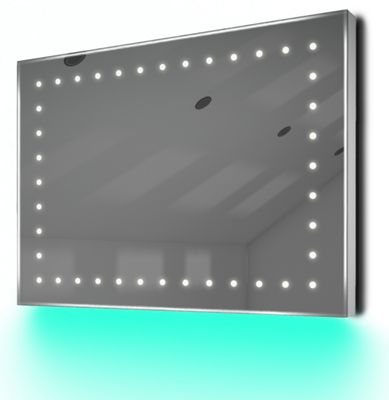 Ambient Ultra-Slim LED Bathroom Mirror With Demister Pad & Sensor K164T