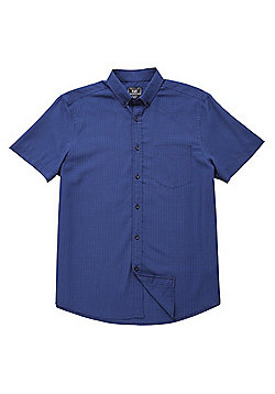 F&F Soft Touch Mini Check Shirt - Navy