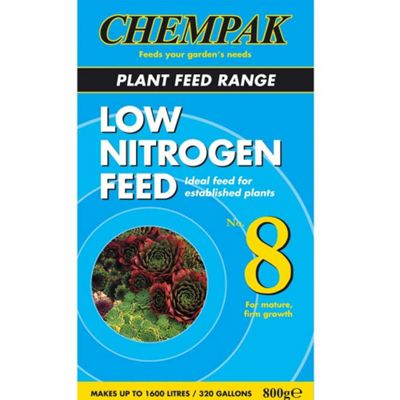 Chempak® Low Nitrogen Feed - Formula 8 - 1 x 800g pack
