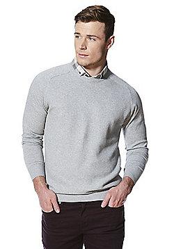 F&F Mock Shirt Layer Jumper - Grey