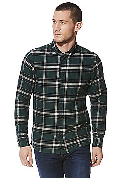 F&F Checked Long Sleeve Shirt - Green