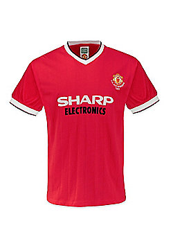 Manchester United FC Mens 1983 FA Cup Winners Retro Shirt - Red