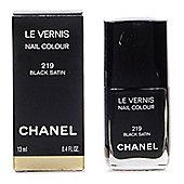 Chanel Le Vernis Black Nail Polish 219 Black Satin