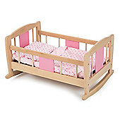 Tidlo Wooden Doll's Rocking Cradle