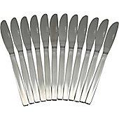 Argon Tableware Set Of 12 Stainless Steel Dinner Knives