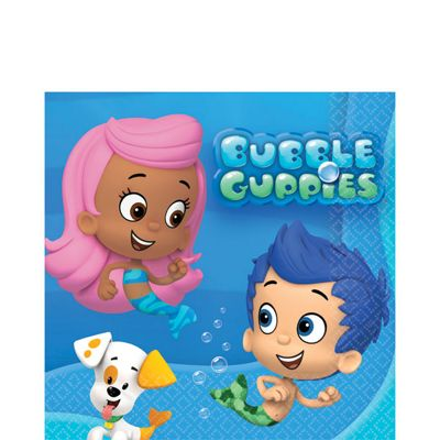 Bubble Guppies Beverage Napkins - 2ply Paper - 16 Pack