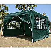 Outsunny 3mx3m Pop Up Gazebo Party Tent Canopy Water Green