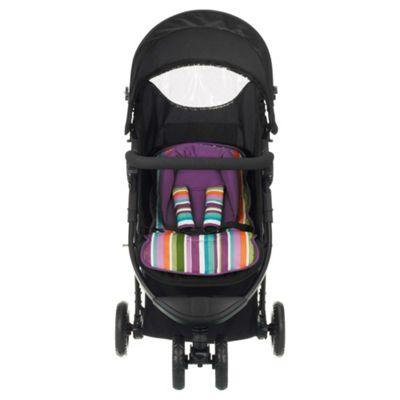 Obaby Tour 3 Wheel Pushchair, Purple Stripe