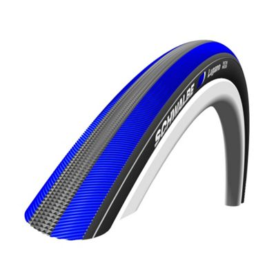 Schwalbe Lugano 700 x 23C Active Wired KevlarGuard Silica Blue Stripes 325g (23-622)
