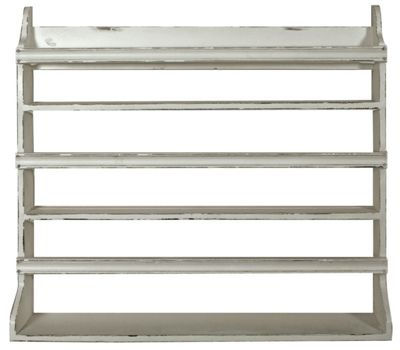 Antique White Plate Rack