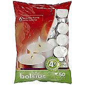 Bolsius Bag of 50 Tealights 4 hours