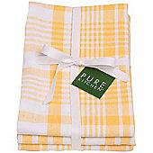 Now Designs Colour Centre Jumbo Tea Towels, Lemon Yellow, Pack of 3