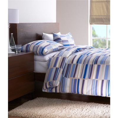 Dreams n Drapes Memphis Blue Double Quilt Set